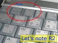 Let's note R2 キーボード