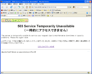 503 Service Temporally Unavailable