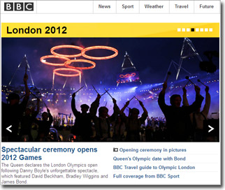 BBC: Spectacular ceremony opens 2012 Games