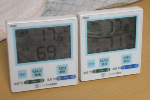 クレセル製デジタル温湿度計CR-1100B
