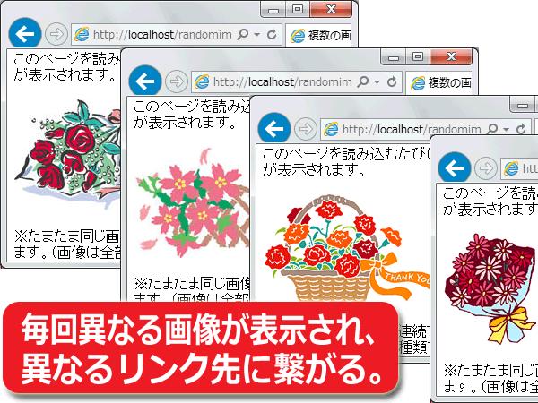 複数の画像リンクからランダムに1つを表示する方法